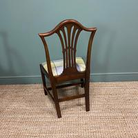 Set of 8 Hepplewhite Design Antique Mahogany Dining Chairs (6 of 10)