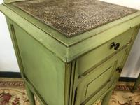 Antique French Painted Bedside Tables Pot Cupboards Original Paint (8 of 13)