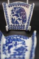 Rare Set of 6 Late 18th Century Blue & White Asparagus Rests (2 of 5)