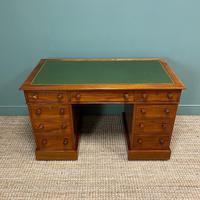 Large Victorian Mahogany Antique Pedestal Desk (2 of 7)