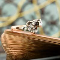 The Antique Victorian Eleven Diamond Tulip Ring (4 of 5)