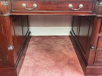 Large Georgian Style Double Sided Partners Desk (4 of 51)