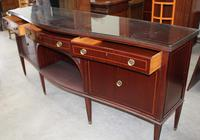 1960s Large Mahogany Serpentine Sideboard with Keys (3 of 5)