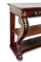 Frech Empire Mahogany Console Table (2 of 4)