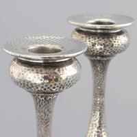 Pair of Arts & Crafts Silver Candlesticks by S Blanckensee & Son 1922 (5 of 10)