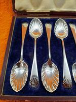 Antique James Dixon & Sons  Silver Plate  Shell Tea Spoon Set Cased C1890 Sheffield (10 of 10)