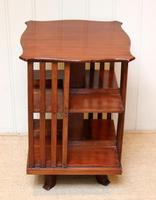 Edwardian Small Proportioned Low Mahogany Revolving Bookcase (8 of 10)