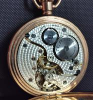 Art Deco Gold Plated Full Hunter Pocket Watch (11 of 11)