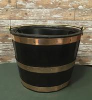 Oak Bucket With Copper Bands