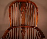 Yew Wood High Back Windsor Chair Rockley Made (5 of 9)