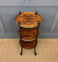 Victorian Inlaid Rosewood Etagere