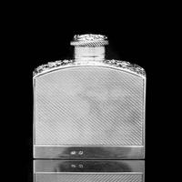 A Georgian Solid Silver Engraved & Engine Turned Hip Flask - Archibald Douglas 1835 (14 of 23)