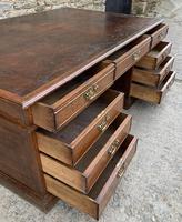 Huge Antique Victorian Oak Partners Desk (9 of 24)