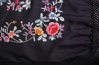 Early 19th Century Chinese Embroidered Silk Piano Shawl (10 of 15)