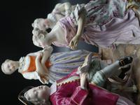 Highly Complex Late 19th Century Meissen Group of 4 Figures (2 of 5)