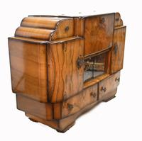 Period Art Deco Cocktail Cabinet Vintage Drinks Chest c.1930 (7 of 12)