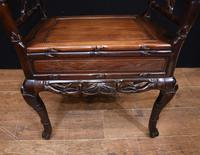 Antique Chinese Stool Hand Carved Piano Circa 1880 (2 of 10)