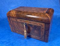 Victorian Tunbridge Ware Twin Section Tea Caddy (8 of 18)