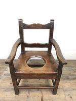 Antique Stained Pine Child's Potty Chair (3 of 12)