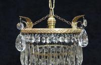 Art Deco Italian Four Tier Crystal Glass Chandelier (3 of 6)