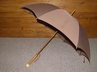 Antique Fawn Coloured Canopy Umbrella With Billiard Inspired Ball Handle (4 of 14)