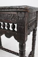 Small Antique Victorian Gothic Revival Oak Hall Table (10 of 13)