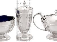 Sterling Silver Condiment Set - Antique George V 1919 (4 of 18)