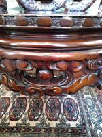 Antique Chinese Qing Dynasty Rosewood Throne Chair (7 of 10)