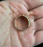 Antique Edwardian 9ct Gold Keeper Ring (11 of 13)