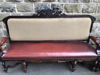 Matching Pair Antique Oak Benches (10 of 14)