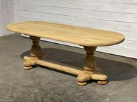 French Bleached Oak Monastery Dining Table