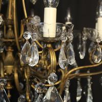 Italian 10 Light Gilded & Crystal Chandelier (3 of 10)