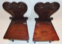 Pair of Regency Mahogany Hall Chairs (4 of 7)