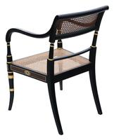 19th Century Regency Decorated Elbow Hall / Side Chair (5 of 9)