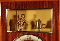 French Mahogany & Satinwood Signed Odo Automation Striking Wall Clock (2 of 5)