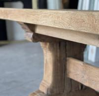 Superb Rustic Large Bleached Oak Farmhouse Table with Extensions (12 of 36)