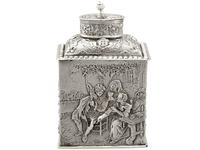 Sterling Silver Tea Caddy - George V 1925 (12 of 15)