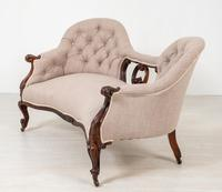 Victorian Rosewood Camel Back Settee (6 of 6)