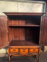 Antique Oak Barley Twist Cabinet on Stand (5 of 10)