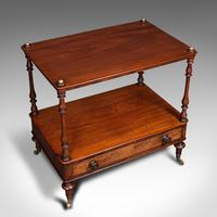 Antique Two Tier Side Table, Mahogany Whatnot, Regency Canterbury, Display Stand (7 of 12)