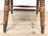 Antique Ash and Elm Smoker's Bow Chair (m-2303) (9 of 10)