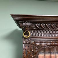 Victorian Carved Oak Antique Bookcase (2 of 9)