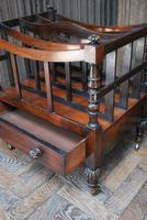 Rosewood Canterbury/ Magazine Rack by Holland & Sons (4 of 6)