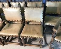 Set of Eight Oak Dining Chairs (12 of 14)
