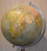 Globe on Oak Base Set with Compass (6 of 7)