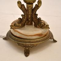 Pair of Onyx & Brass Table Lamps (9 of 11)