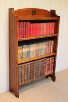Solid Oak Open Bookcase c.1910 (3 of 5)