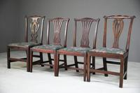 4 Antique Chippendale Style Mahogany Dining Chairs (3 of 12)