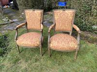 Pair of French Armchairs in Original Paint Finish (10 of 10)