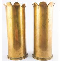 WW1 Trench Art 1918 Pair of Shells (3 of 5)